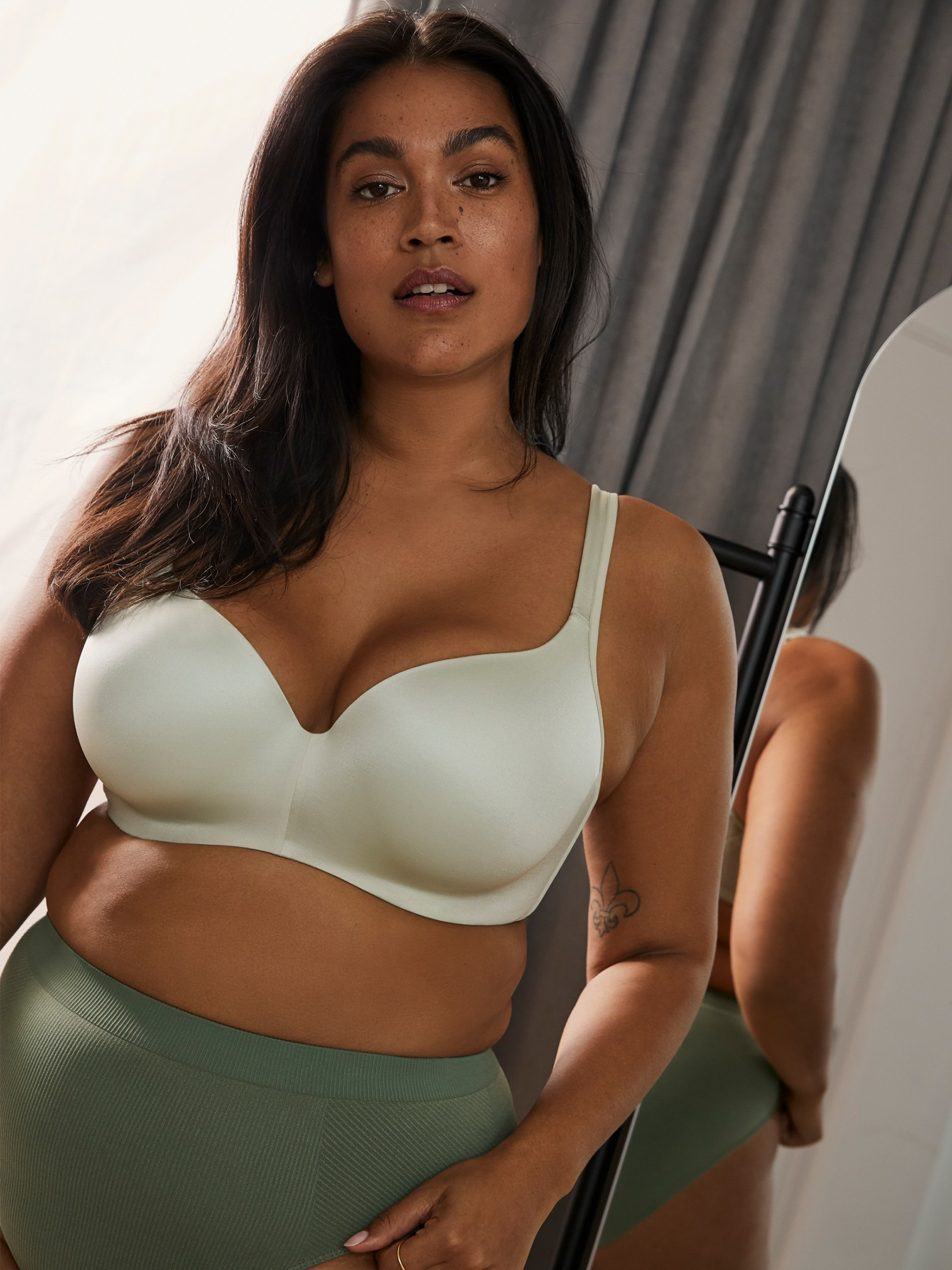 Padded Wirefree Ribbed T-Shirt Bra