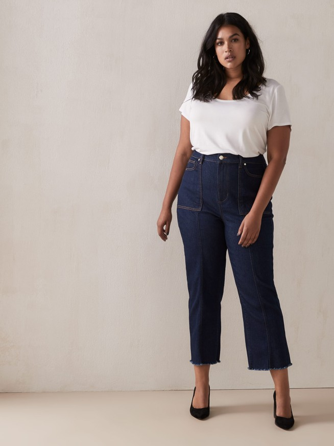 plus size crop jeans