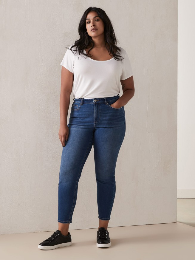 skinny jeans taille plus