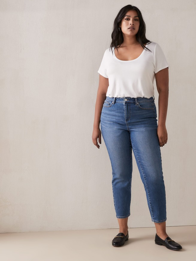 Slim leg plus size jeans